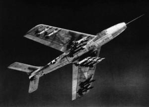 F-84F with 24 HVAR
